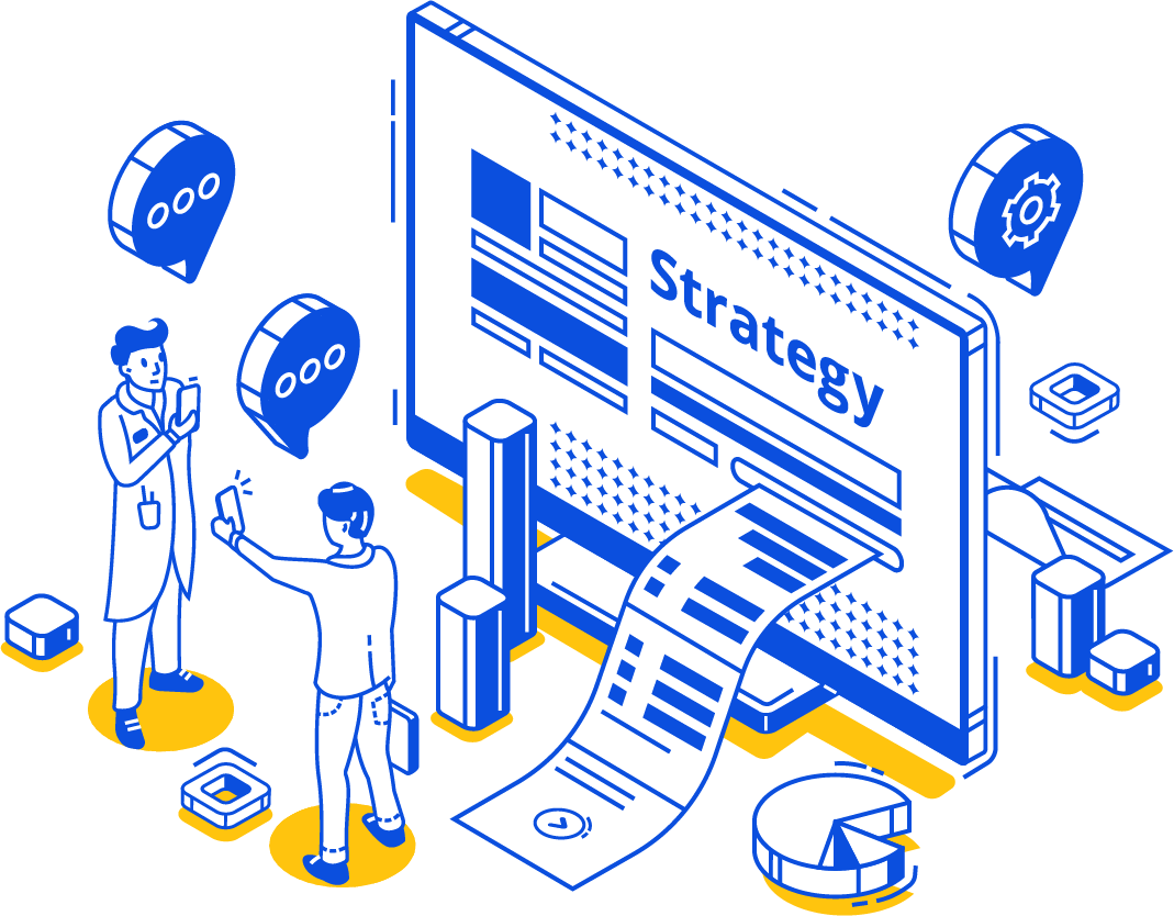 illustration strategie cartoon